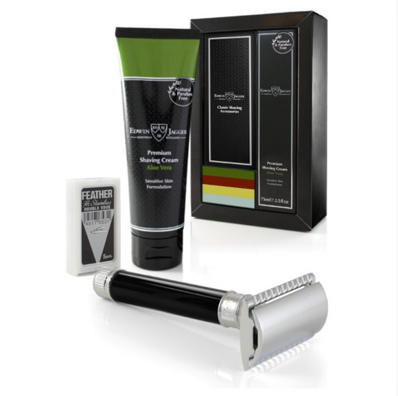 Edwin Jagger DE86 Razor And Cream Gift Set - Aloe Vera