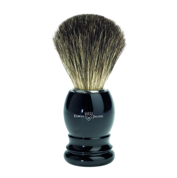 Edwin Jagger 81P26 Imitation Ebony Shaving Brush (Pure Badger)