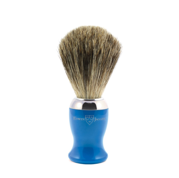 Edwin Jagger Blue Shaving Brush (Pure Badger)
