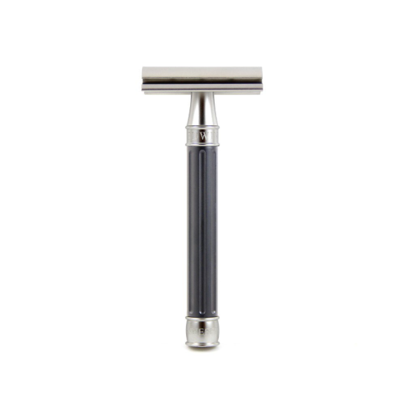 Edwin Jagger 3ONE6 Stainless Steel Gunmetal DE Safety Razor