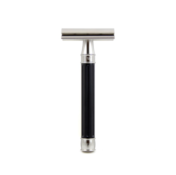 Edwin Jagger 3ONE6 Stainless Steel Black DE Safety Razor