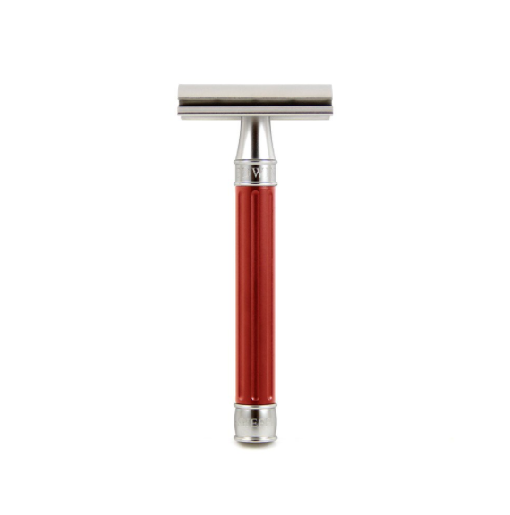 Edwin Jagger 3ONE6 Stainless Steel Red DE Safety Razor