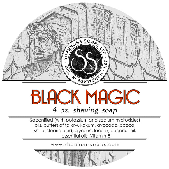Shannon's Soaps - Shaving Soap - Black Magic