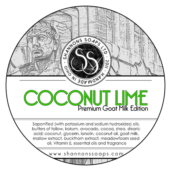 Shannon's Soaps - Shaving Soap - Coconut Lime
