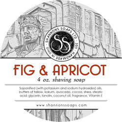 Shannon's Soaps - Shaving Soap - Fig & Apricot