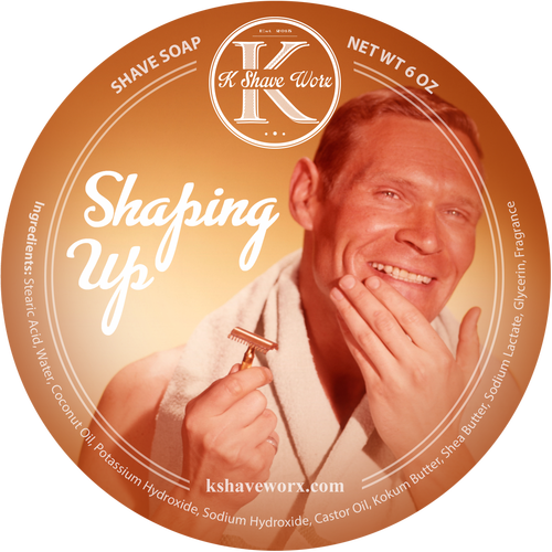 K Shave Worx - Shaping Up  - Shave Soap, 6 oz