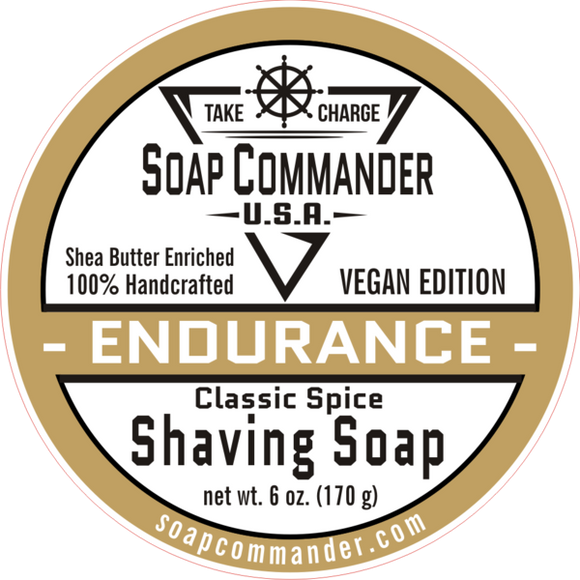 From Soap Commander:  Our Endurance scent is our attempt to dupe the Classic and Enduring scent of the 1938 Shulton Company version of Original Old Spice aftershave...We think your Grandfather would approve and your significant other will demand it!  Watch out!