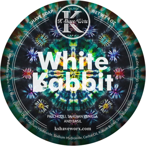 K Shave Worx - White Rabbit - Shave Soap, 4 oz