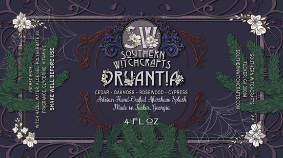 Southern Witchcrafts Aftershave Splash - Druantia