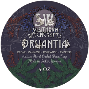 Southern Witchcrafts Shave Soap - Druantia - Vegan