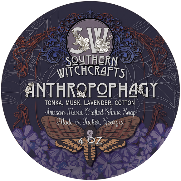 Southern Witchcrafts - Vegan Shave Soap - Anthropophagy