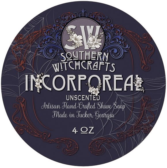 Southern Witchcrafts - Vegan (Unscented) Shave Soap - Incorporeal
