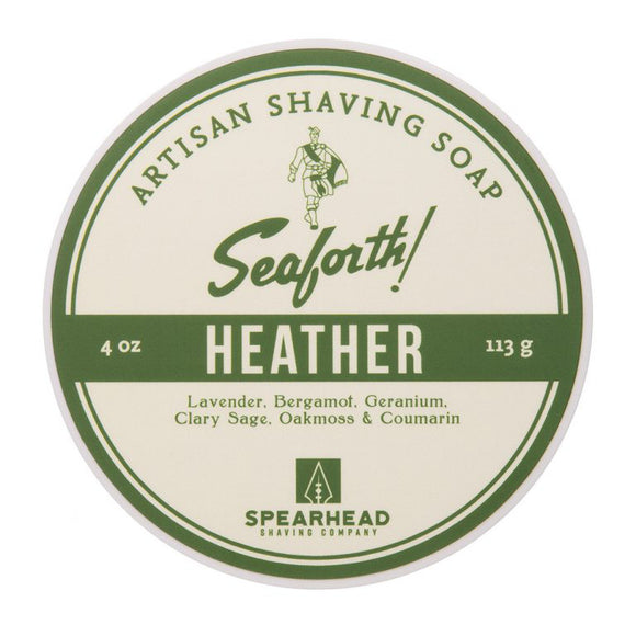 Spearhead Shaving Company - Seaforth - Heather Shaving Soap