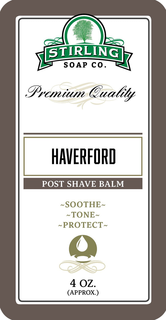 Stirling Soap Company - Post-Shave Balm - HaverfordStirling Soap Company - Post-Shave Balm - Haverford