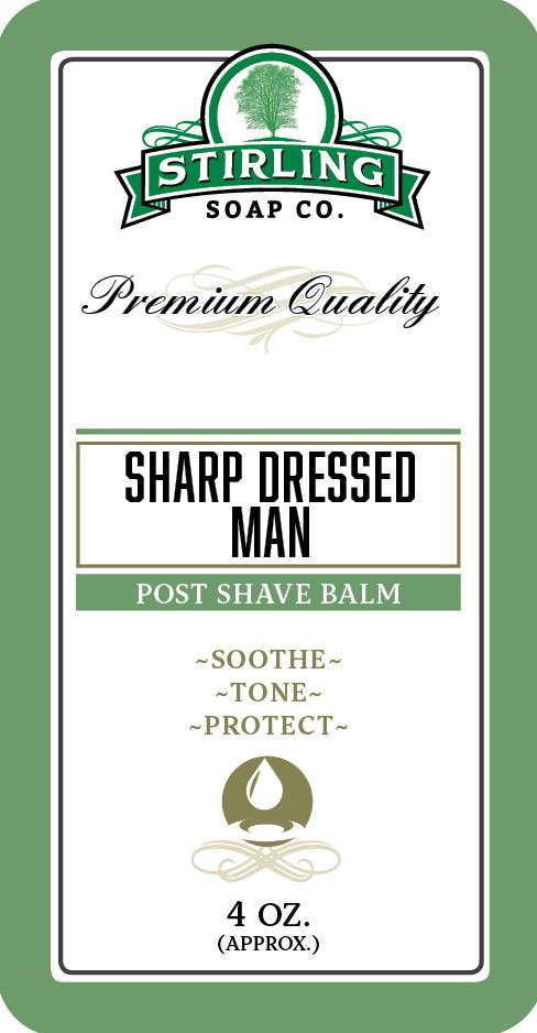 Stirling Soap Company - Post-Shave Balm - Sharp Dressed Man