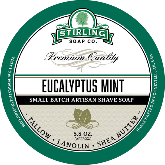 Stirling Soap Company - Shave Soap - Eucalyptus Mint