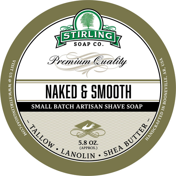 Stirling Soap Company - Shave Soap - Naked & Smooth