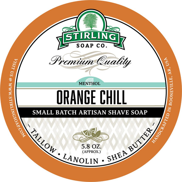 Stirling Soap Company - Shave Soap - Orange Chill