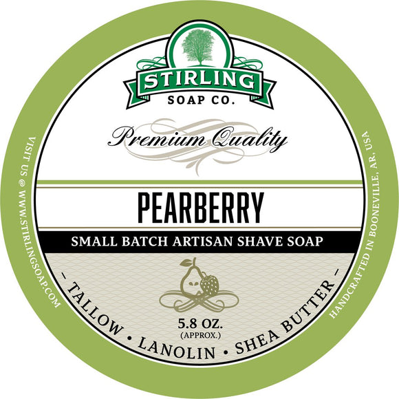 Stirling Soap Company - Shave Soap - Pearberry