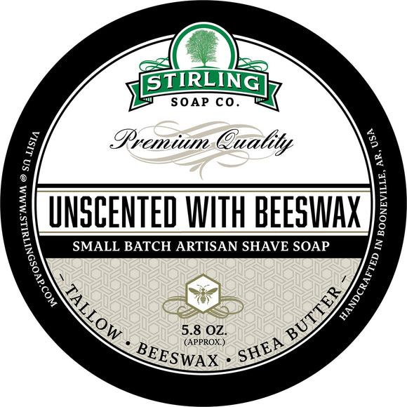 Stirling Soap Company - Shave Soap - Unscented with Beeswax