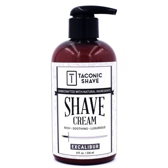 Taconic - Shave Cream In 8 Oz. Pump Bottle - Excalibur