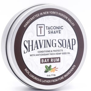 Taconic - Shaving Soap With Hemp Seed Oil - Bay Rum