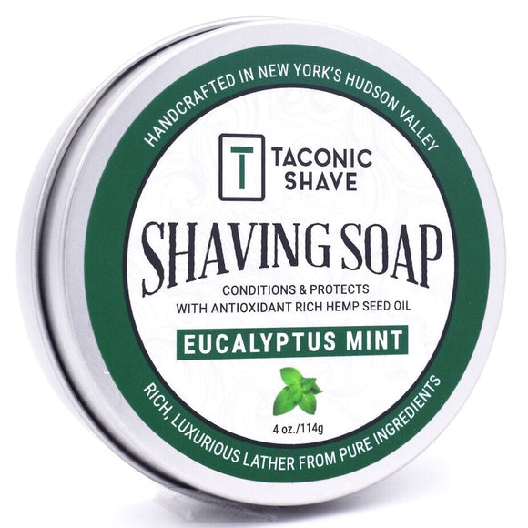 Taconic - Shaving Soap With Hemp Seed Oil - Eucalyptus Mint