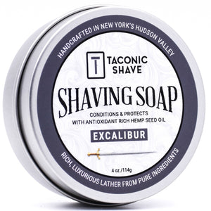 Taconic - Shaving Soap With Hemp Seed Oil - Excalibur