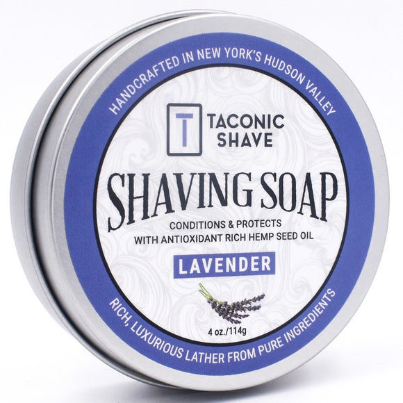 Taconic - Shaving Soap With Hemp Seed Oil - Lavender