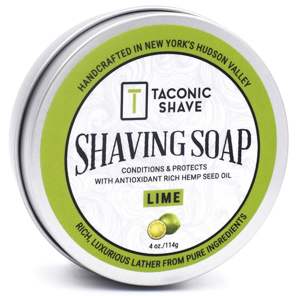 Taconic - Shaving Soap With Hemp Seed Oil - Lime