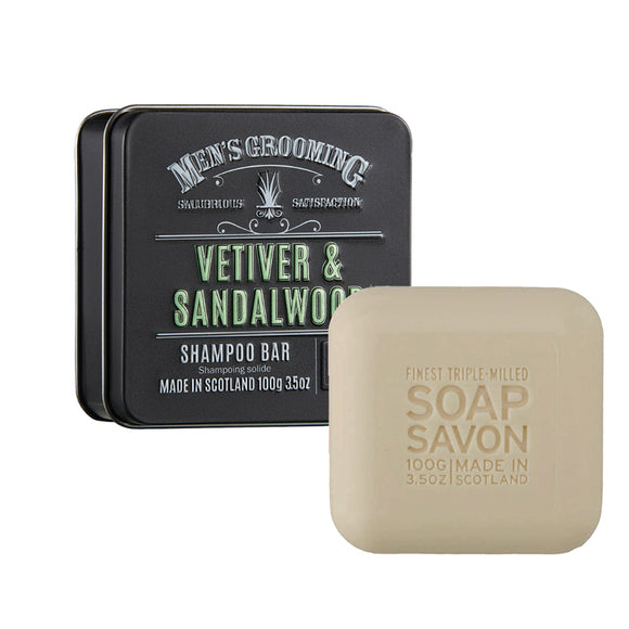 The Scottish Fine Soaps Company Vetiver & Sandalwood Shampoo Bar 100g