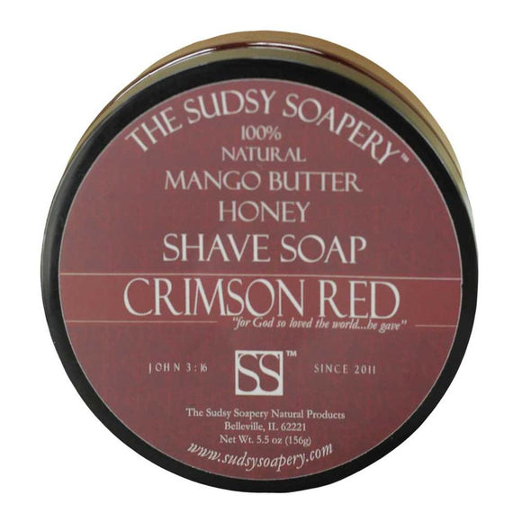 The Sudsy Soapery - Mango Butter Shave Soap - Crimson Red