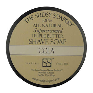 The Sudsy Soapery - Supercreamed Triple Butter Shave Soap - Cola