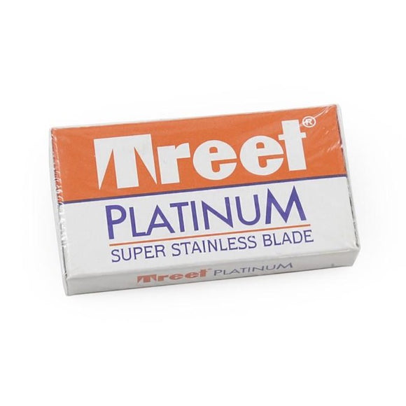 Treet - Platinum Super Stainless Double Edge Blades - Pack of 10 Blades