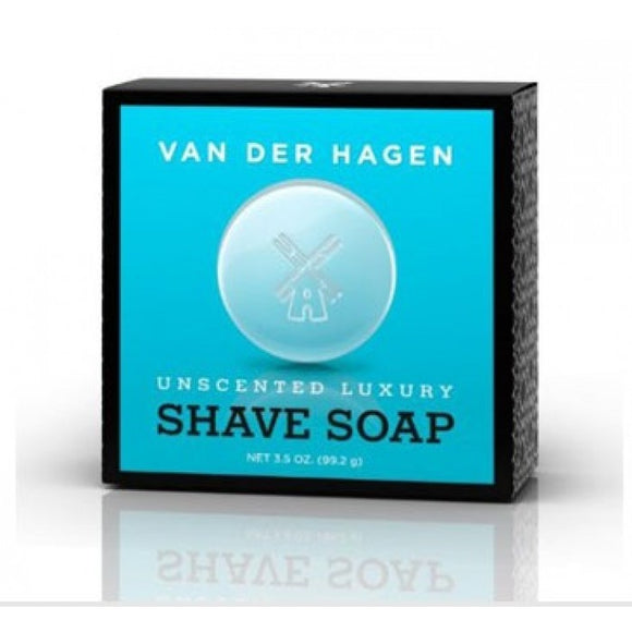Van Der Hagen Unscented Luxury Shave Soap 3.5 Oz