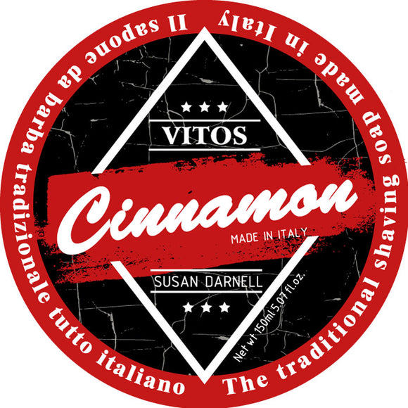 Vitos Limited Edition Shave Soap 150ml - Cinnamon