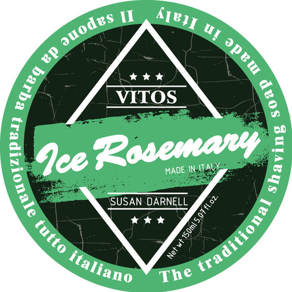 Vitos Limited Edition Shave Soap 150ml - Ice Rosemary