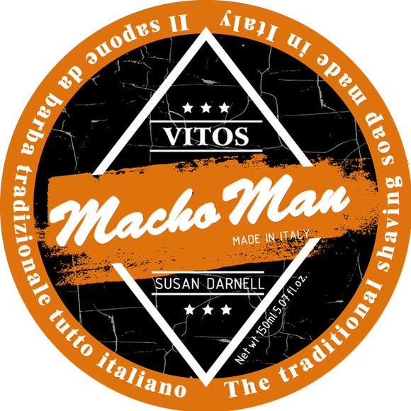 Vitos Limited Edition Shave Soap 150ml - Macho Man