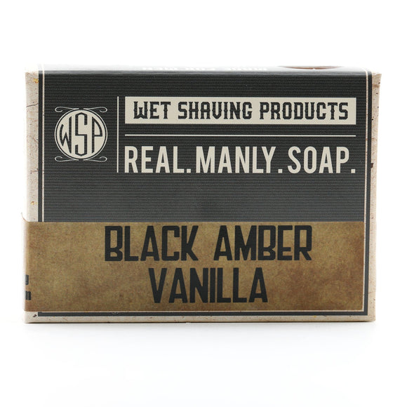 Wet Shaving Products  - Castile Hand & Body Soap Bar - Black Amber Vanille