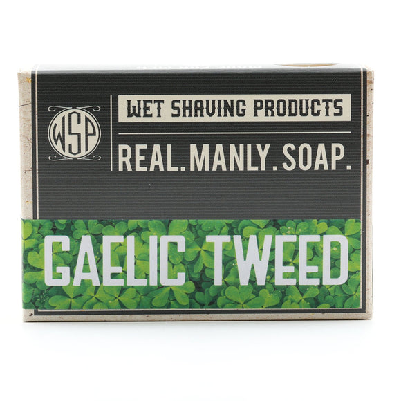 Wet Shaving Products  - Castile Hand & Body Soap Bar - Gaelic Tweed