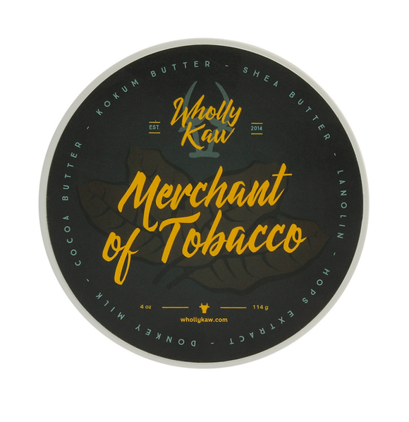 Wholly Kaw - Premium Mentholated Shave Soap -  Merchant of Tobacco