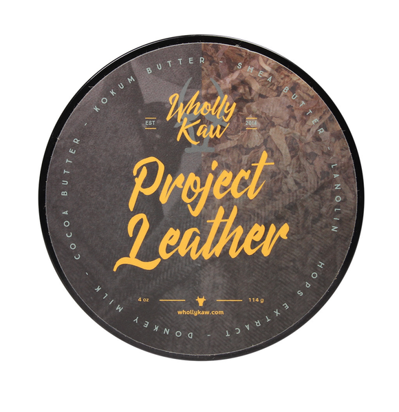 Wholly Kaw - Premium Mentholated Shave Soap -  Project Leather