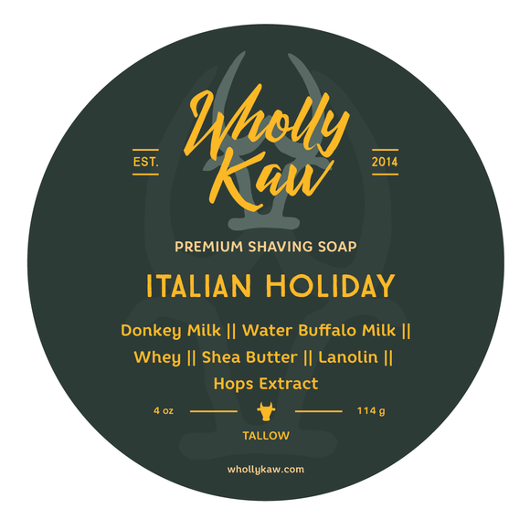 Wholly Kaw - Premium Shave Soap -  Italian Holiday