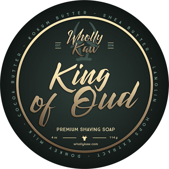 Wholly Kaw - Premium Shave Soap -  King of Oud