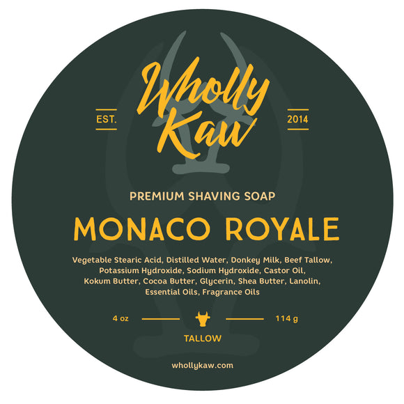 Wholly Kaw - Premium Shave Soap -  Monaco Royale