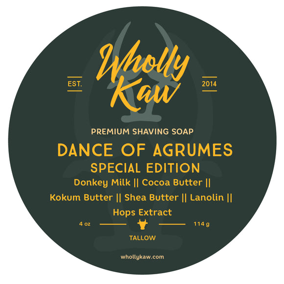 Wholly Kaw - Special Edition Shave Soap - Dance of Agrumes