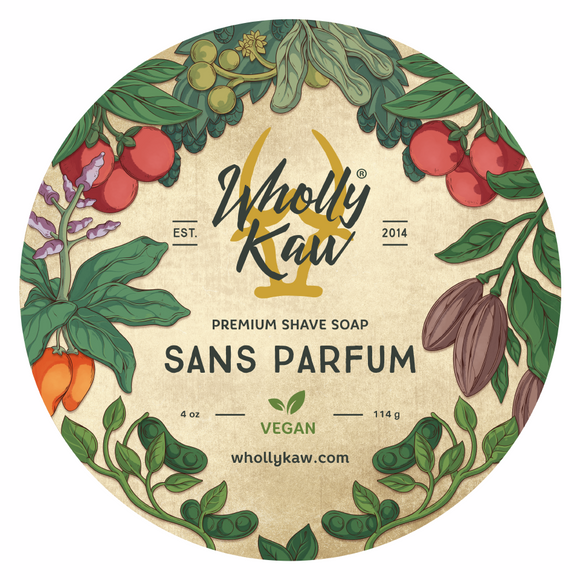 Wholly Kaw - Vegan Shaving Soap - Sans Parfum