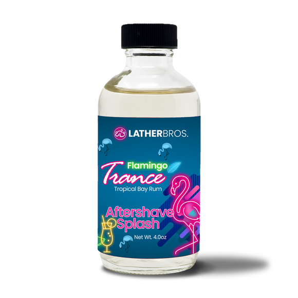 Lather Bros. Flamingo Trance, 4 oz, Aftershave Splash