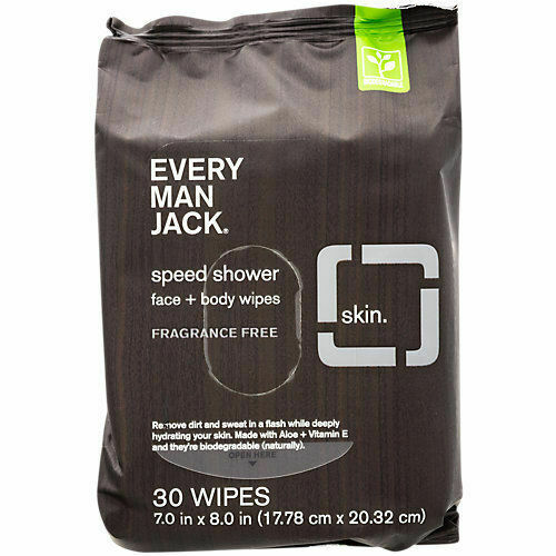 Every Man Jack Mens Wipes, Shower , Face & Body - For Sensitive Skin