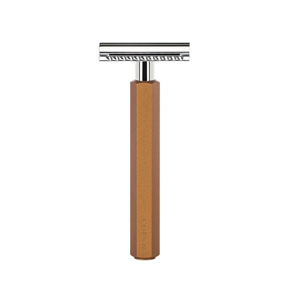 Muhle HEXAGON – Bronze Safety Razor - Closed Comb